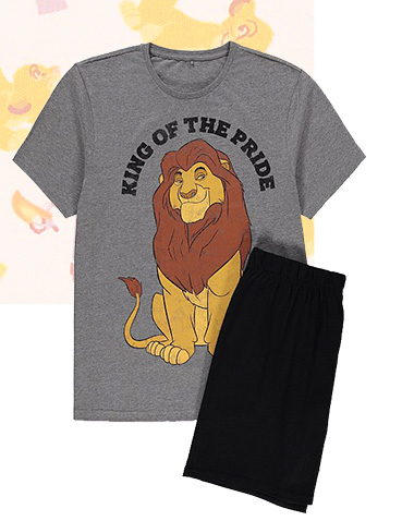 Designed with Mufasa and the slogan 'King of the pride', this short pyjama set is perfect for balmy summer nights