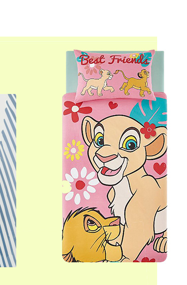 If your little Disney fan just can't wait to go to sleep, this reversible The Lion King duvet set is perfect for them
