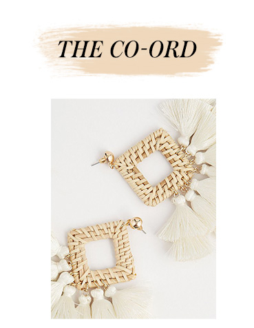 These wicker drop earrings add the perfect finishing touch to any look