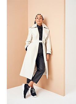 Pair dark trousers with a light top or jacket