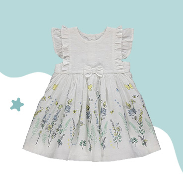 Made from pure cotton, this gorgeous little dress is perfect for balmy summer days