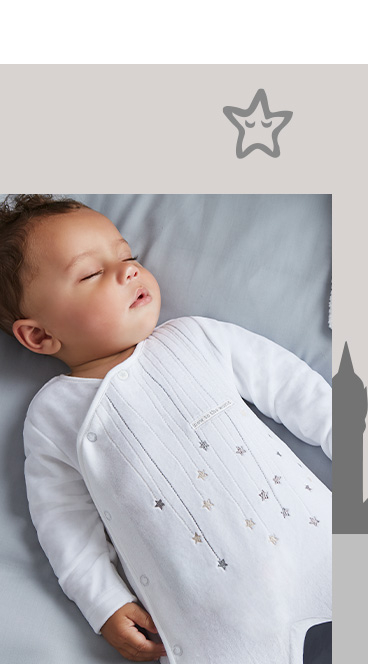 Designed by Billie, this sleepsuit comes with a hat featuring an embroidered star