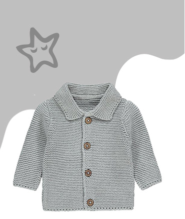 Lovingly knitted and finished with a button-front, this cardigan is a smart addition to their wardrobe