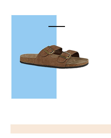 Upgrade your warm weather footwear with these sandals with classic 2 buckled straps
