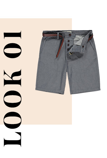 Add a smart spin to your weekend wear with these versatile woven shorts, ready-styled with a leather-look belt