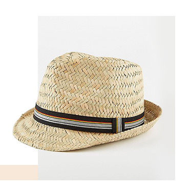 Providing shade in the sun and statement style, this straw trilby hat will become your favourite accessory