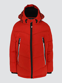 Product image of red shower resistant coat