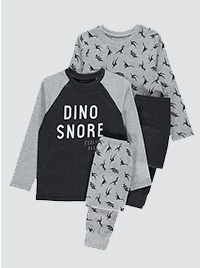 Grey and black dinosaur pyjamas