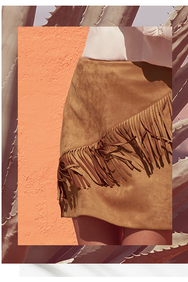 Channel our range of fringe clothing this season