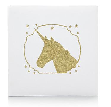 Gold Glitter Unicorn Photo Album