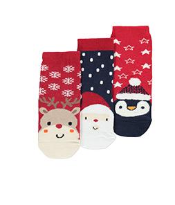3 Pack Assorted Christmas Socks