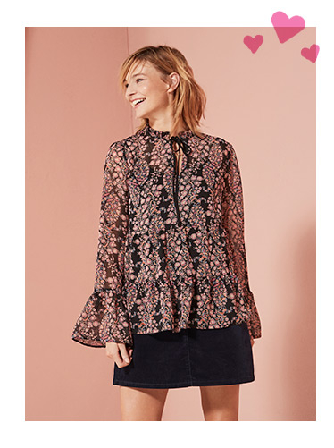 Bow Neck 2 In 1 Blouse