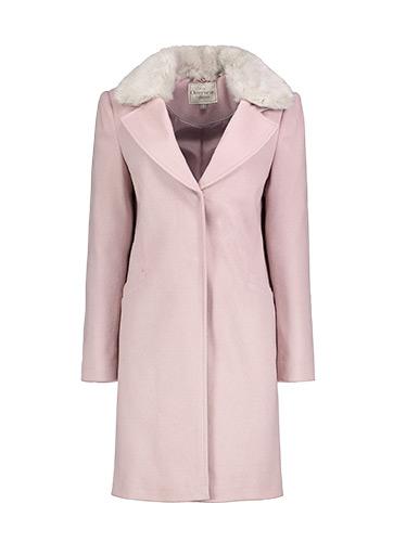 Long, faux fur coat