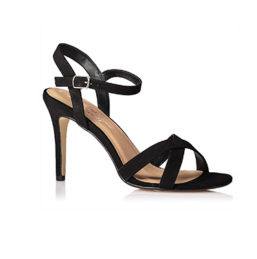 Cross Front Heeled Sandals