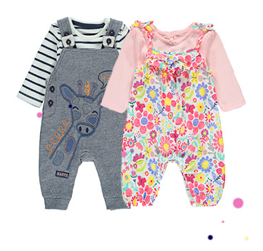 Baby clothing for girls and boys