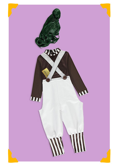 Roald Dahl Oompa Loompa Fancy Dress Costume