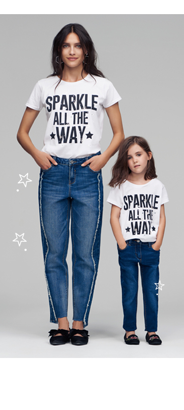 Go casual with our matching slogan tees at George.com
