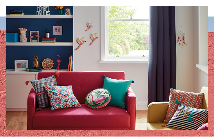 Play with colour with our Bohemian Brights homeware collection