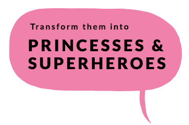 Discover a whole new world of princess and superhero costumes