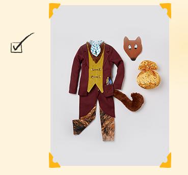 Shop our Roald Dahl Mr. Fox fancy dress costume