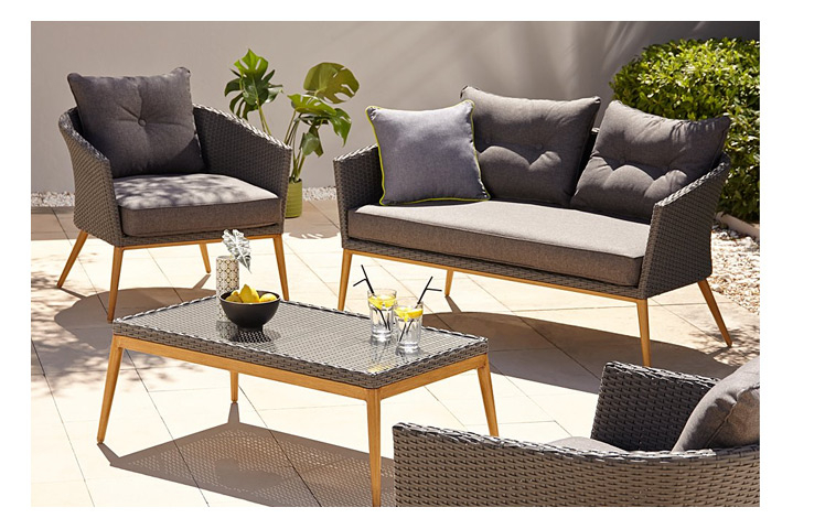 Capri 4 Piece Sofa Set