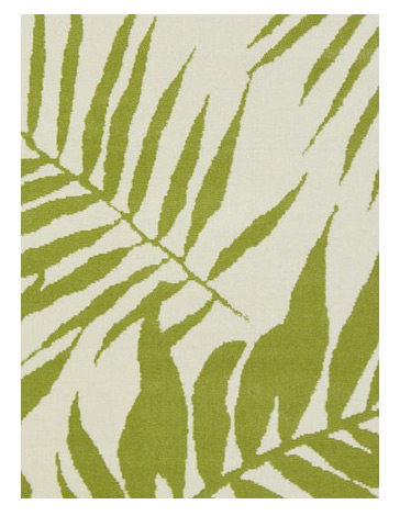 Green Homemaker Botanical Pattern Rug