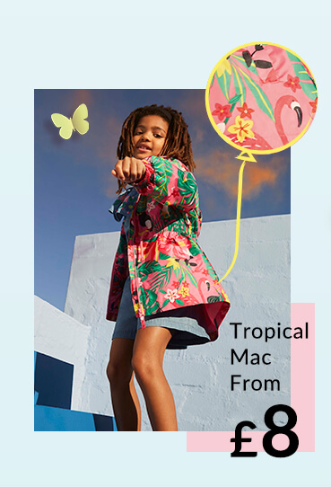 Brighten up rainy days with a fun raincoat