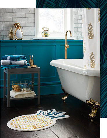 Create a serene space to soak with our Luxe bathroom collection
