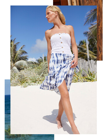 Keep cool and collected under the sun with a breezy beach sarong