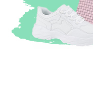 They'll love stepping out in style in these chunky white trainers with gripped soles