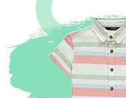 Designed with stripes, this linen look shirt is the perfect finishing piece