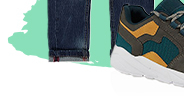 A great choice for everyday wear, these teal trainers boast contrast panelling and a mesh upper for breathability