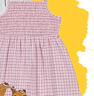 Dress them up for any occasion in this pink jersey dress