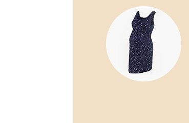 Maternity nursing navy star print chemise nightdress.