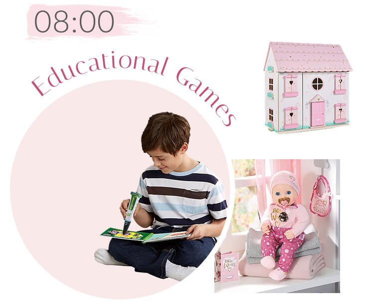 Leapstart Pen, Wooden Dolls House and Baby Annabell
