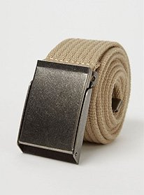 Brown buckle belt