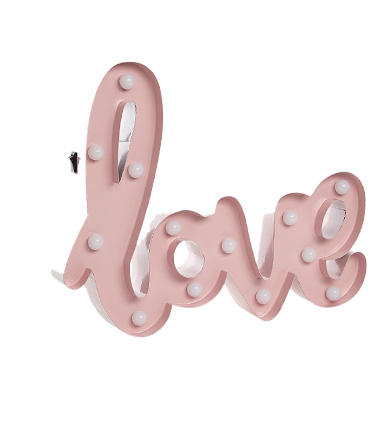This light-up 'love' sign will make a fun addition to the garden
