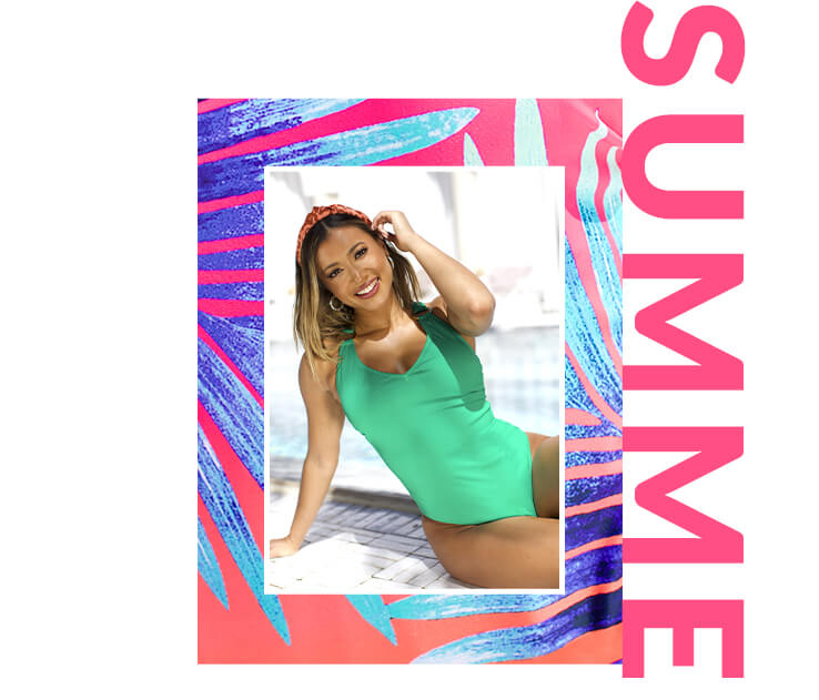 Shine bright in neon-coloured swimsuits