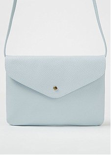 Pale blue cross body bag