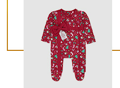 Red Christmas sleepsuit