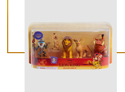 Disney's The Lion King figures, including Simba, Nala and Timon