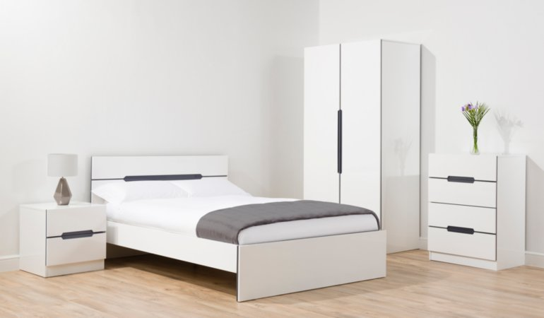George Home Brooklyn Bedroom Furniture Range - White and Grey