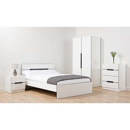 George Home Brooklyn Bedroom Furniture Range   White and Grey. George Home Brooklyn Bedroom Furniture Range   White and Grey