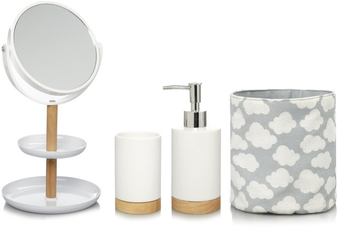 Modern Organic Clouds Bathroom Accessories Range