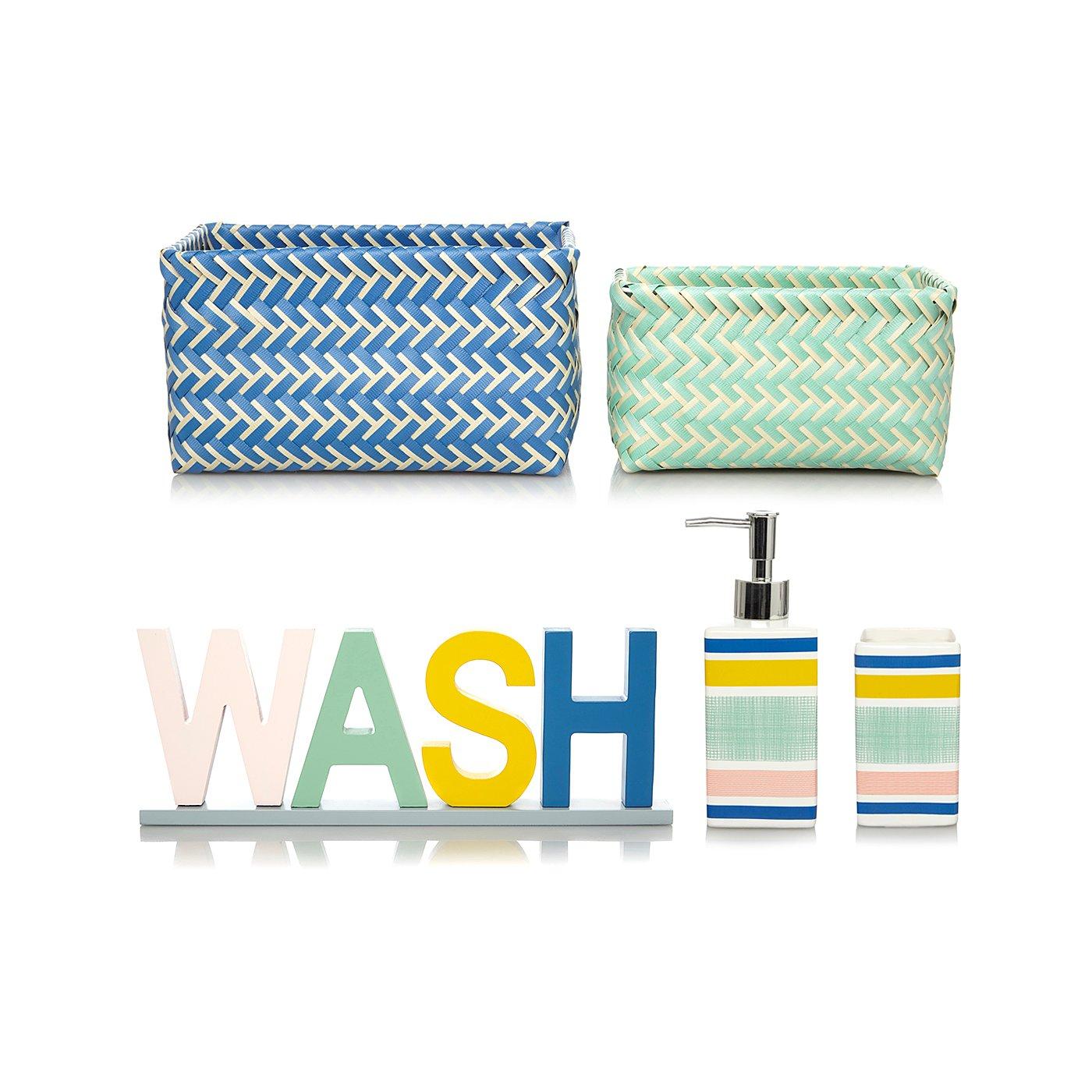 Car bathroom accessories - Modern Organic Stripes Bathroom Accessories Range