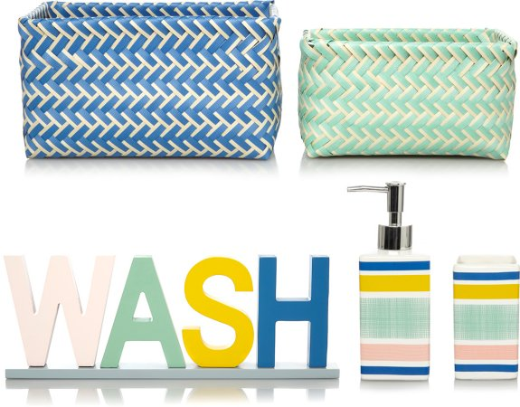 Modern Organic Stripes Bathroom Accessories Range