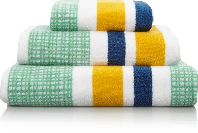 100% Cotton Towel Range - Modern Organic Stripe