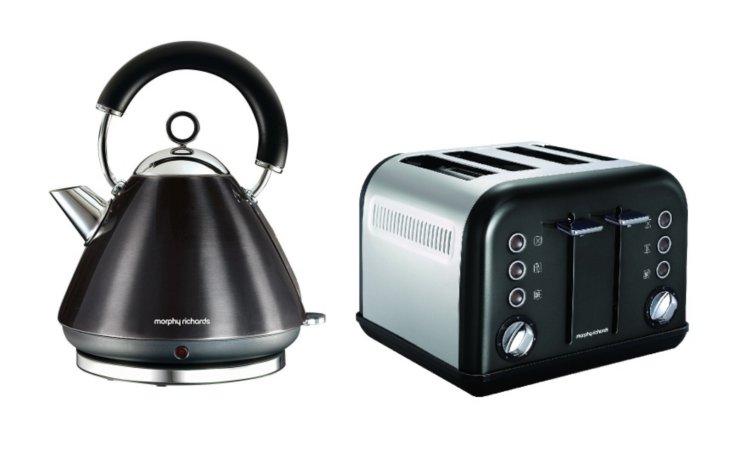 Morphy Richards Metallic Accents Kettle & Toaster Range - Black