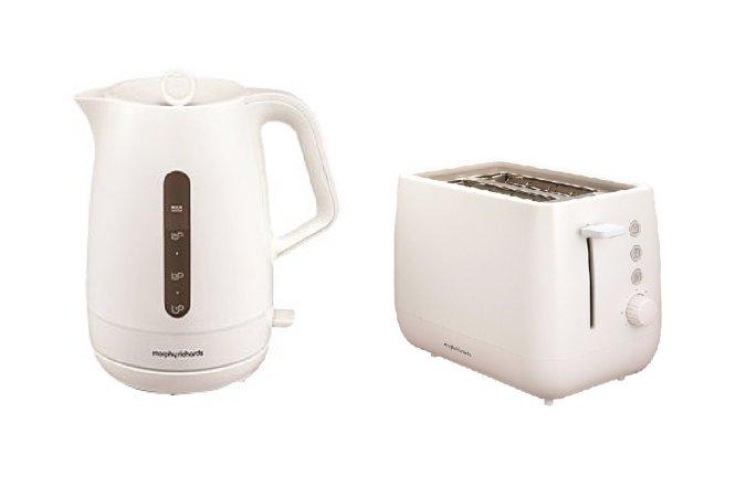 Morphy Richards Chroma Kettle & Toaster Range - White