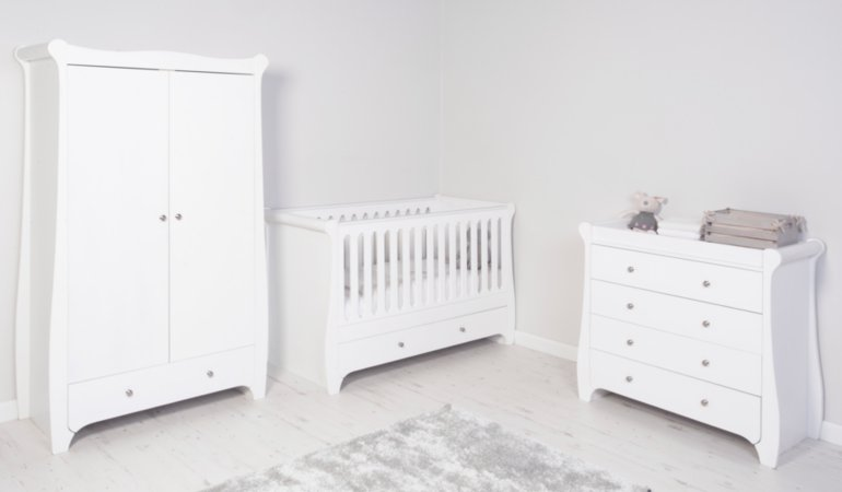 Jessica Nursery Furniture Range - White